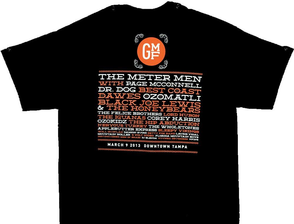 2013 GMF Lineup T-Shirt (various colors)  570381adf
